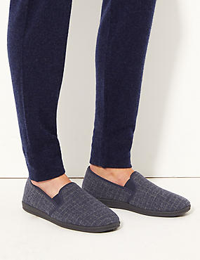 Grid Checked Slippers with Freshfeet™