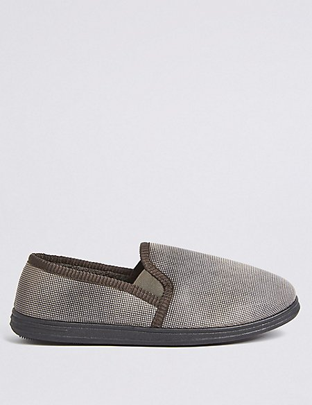 Micro Check Slippers with Freshfeet™