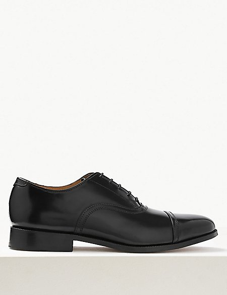 Leather Lace-up Oxford Shoes