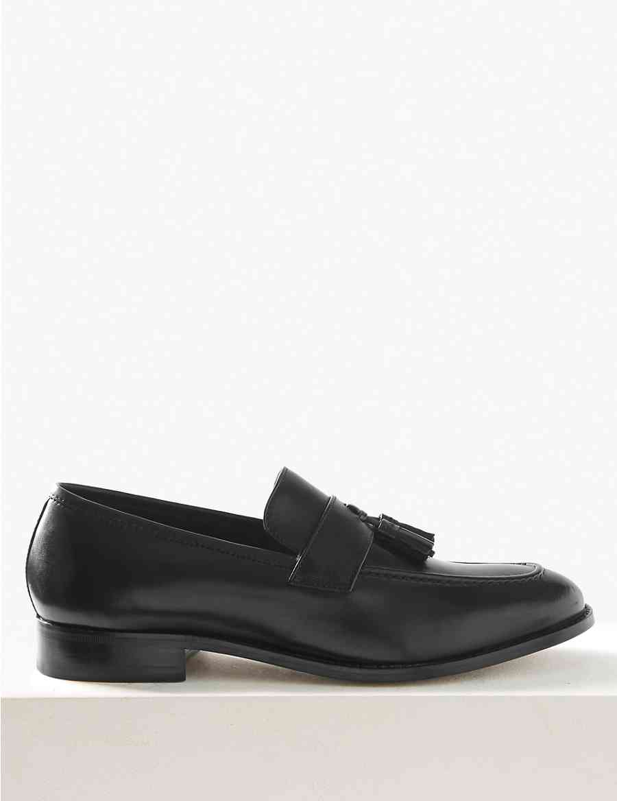 fb11510e03 Leather Slip-on Loafers | M&S Collection Luxury | M&S