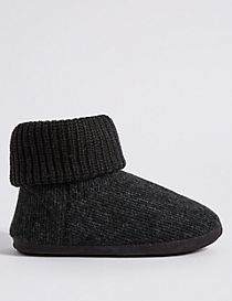 Knitted Slipper Boots with Freshfeet™