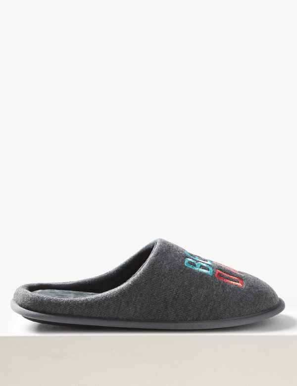 57715a16d3ef Best Dad Ever Mule Slippers