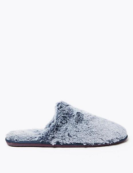 Fluffy Mule Slippers