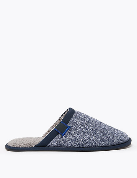 Warm Lined Mule Slippers