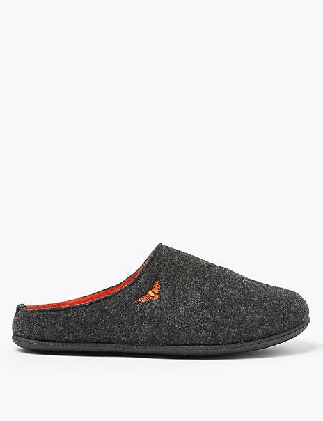 Felt Mule Slippers
