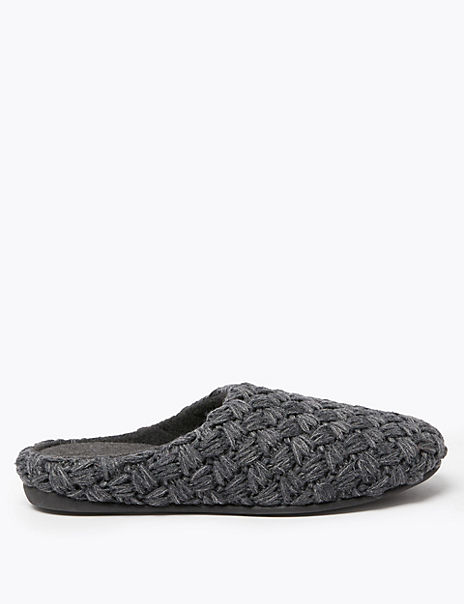 Chunky Knitted Mule Slippers