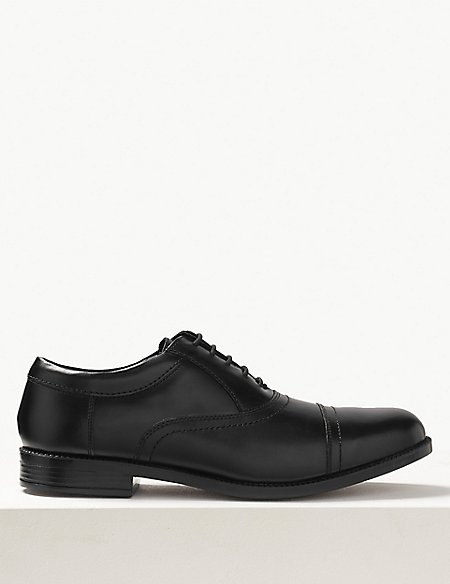Extra Wide Fit Leather Oxford Lace-Up Shoes