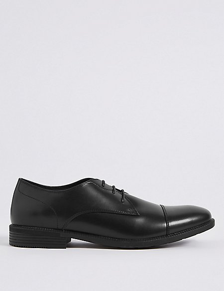 Toe Cap Lace-up Derby Shoes