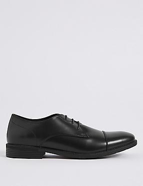 Toe Cap Lace-up Derby Shoes