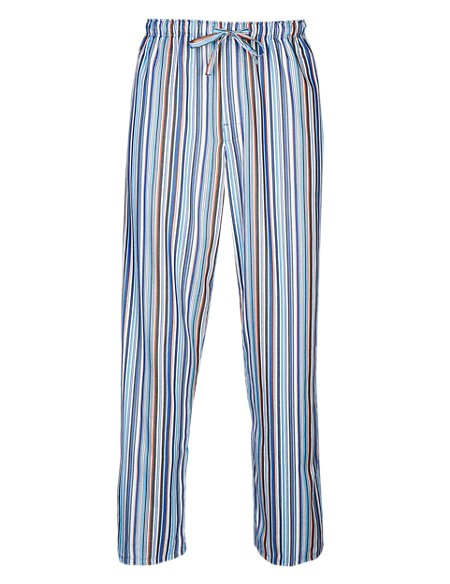 Supima® Pure Cotton Striped Pyjama Bottoms