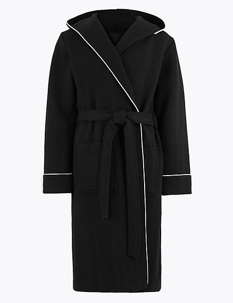 Cotton Rich Quilted Hooded Gown