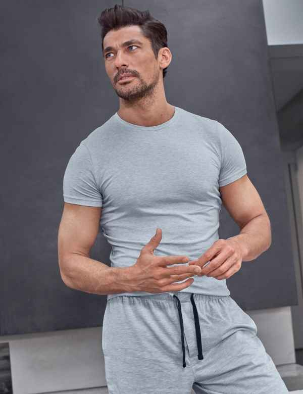 7d9fa118c6ee6 Supima® Cotton Blend Shorts with Stretch. David Gandy for Autograph
