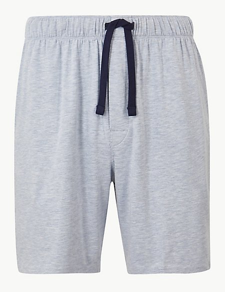 Supima® Cotton Blend Shorts with Stretch