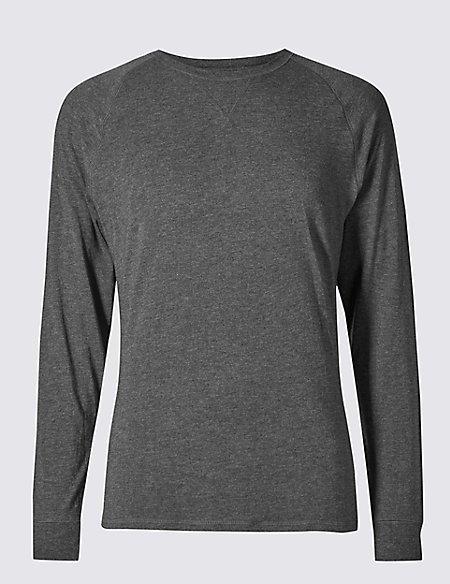 2in Longer Supima® Cotton Blend Pyjama Top