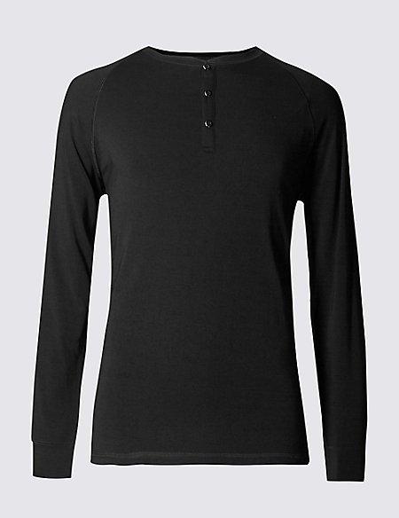Supima® Long Sleeve Pyjama Top