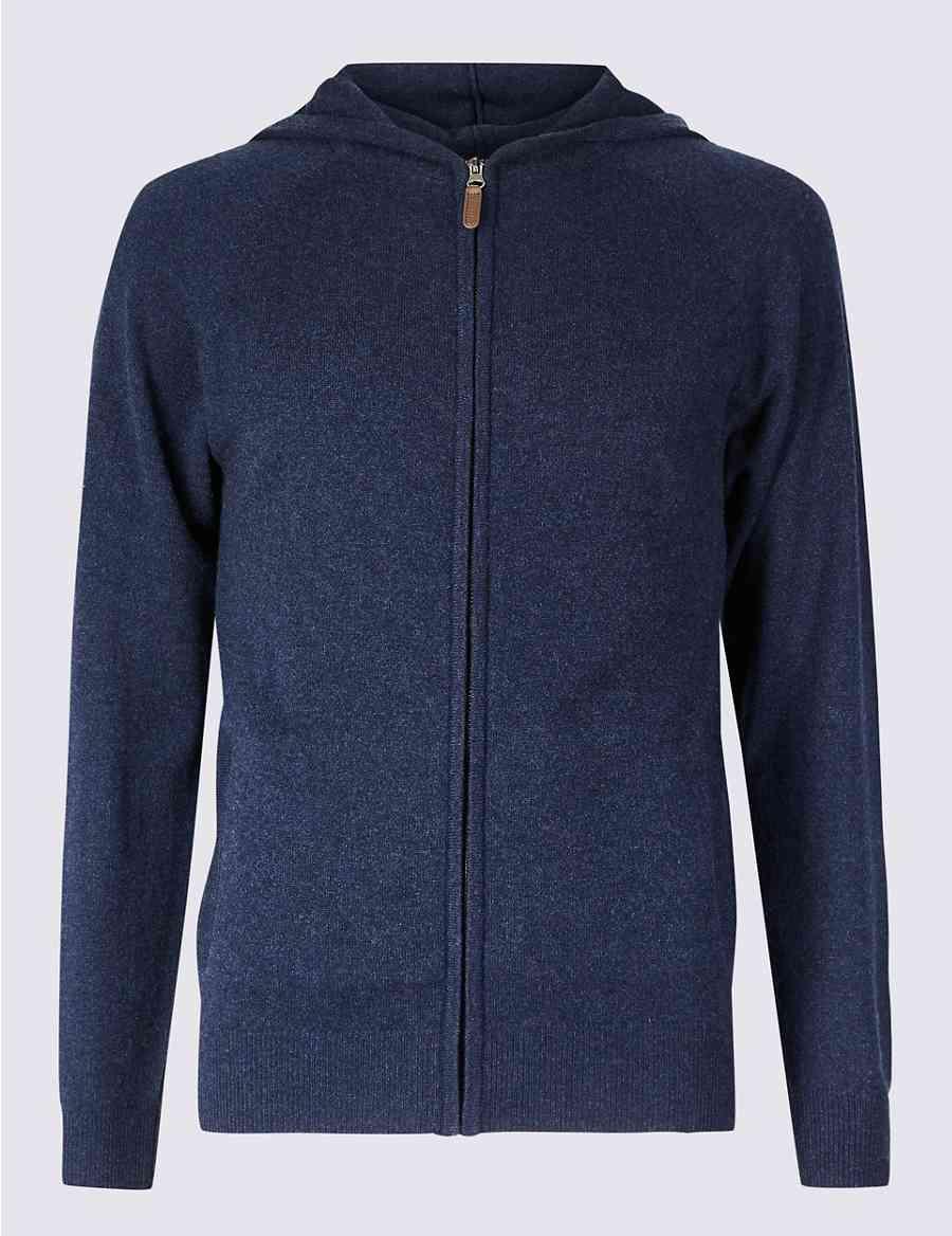 3fff8124f518 Pure Cashmere Hooded Pyjama Top