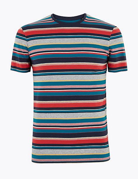 Cotton Striped Pyjama Top