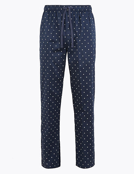 Pure Cotton Printed Pyjama Bottoms