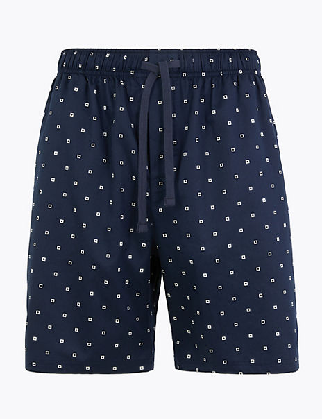 Supima® Cotton Geo Print Pyjama Shorts