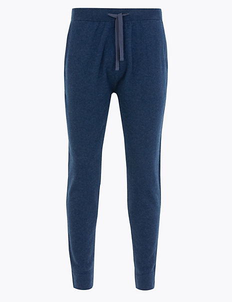 Wool Rich Joggers with Cashmere
