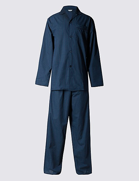 Easy Care Checked Pyjamas