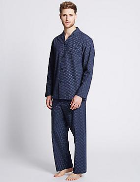 Cotton Blend Easy Care Printed Pyjama Set