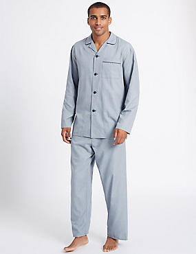 Cotton Blend Textured Pyjama Set