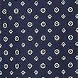 2in Longer Cotton Blend Printed Pyjama Set, NAVY MIX, swatch