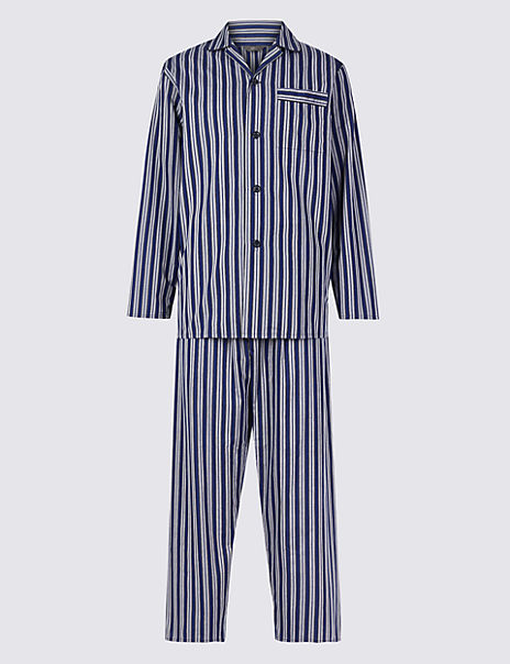 Cotton Blend Striped Pyjama Set
