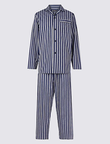 Cotton Blend Striped Pyjama Set