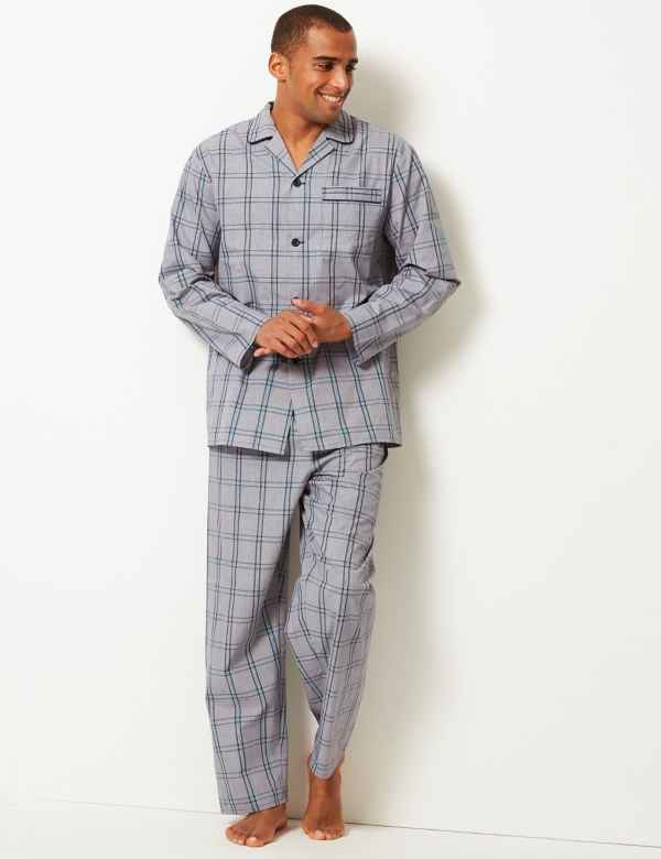 05b776e9b24d Cotton Blend Checked Pyjama Set. New
