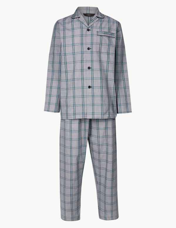 33855d4f6c Cotton Blend Checked Pyjama Set