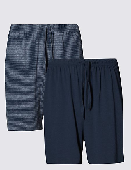 2 Pack Cotton Rich Assorted Pyjama Shorts