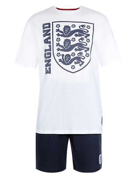 England FA 3 Lions Pure Cotton T-Shirt & Shorts Set