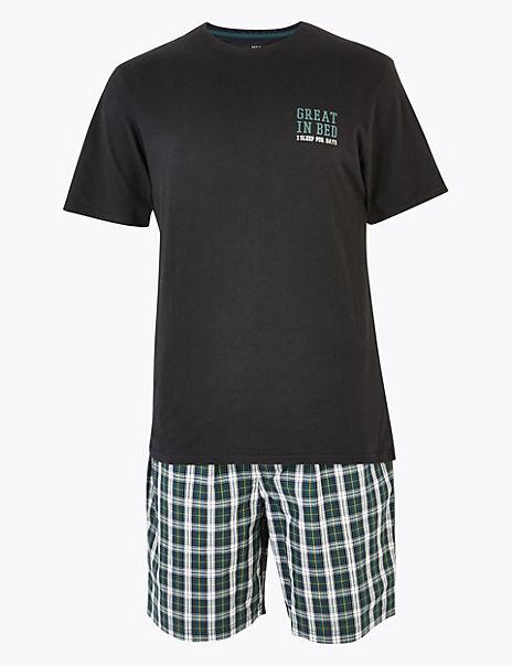 Brushed Cotton Pyjama Short Set
