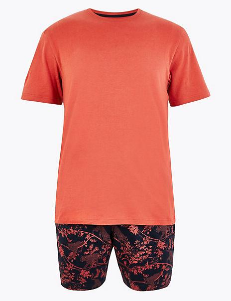 Pure Cotton Jungle Print Pyjama Set