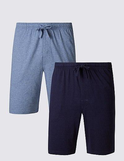 fa5f16803b32e Lot de 2 shorts de pyjama 100 % coton doux