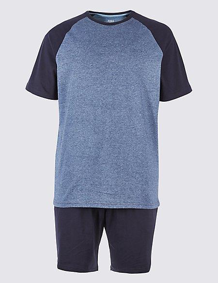 Pure Cotton Striped Pyjama Shorts Set