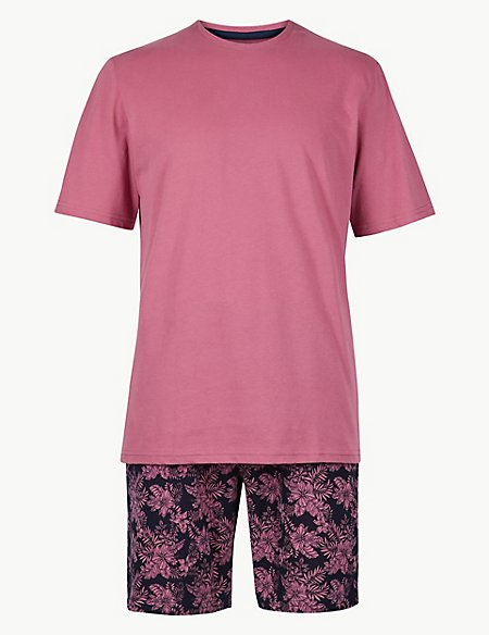 Pure Cotton Printed Pyjama Shorts Set