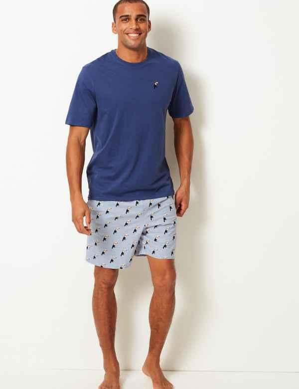 9c7343fa859 Pure Cotton Toucan Print Pyjama Shorts Set