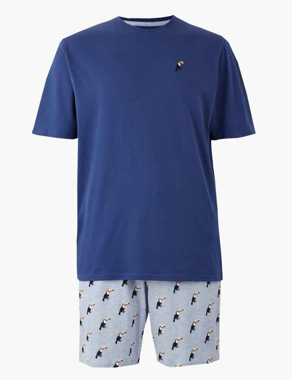 9d770177e4 Pure Cotton Toucan Print Pyjama Shorts Set