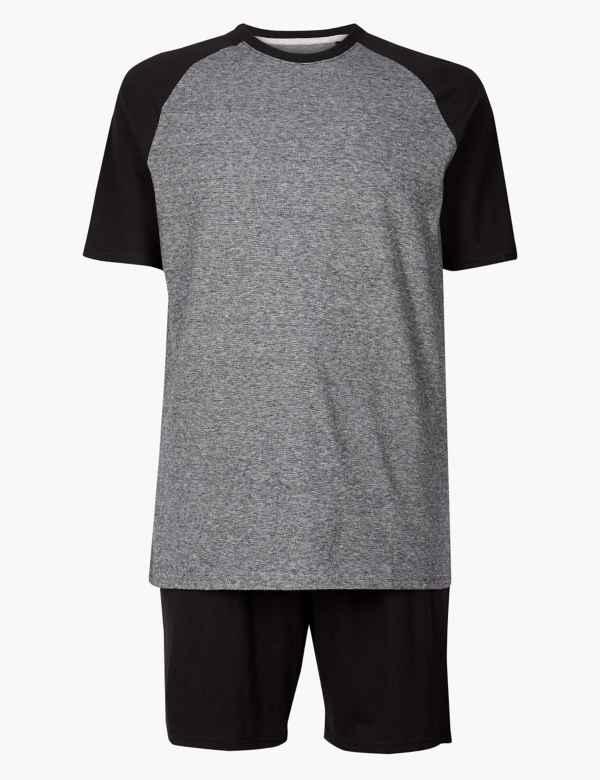 a0989d93f3 Pure Cotton Striped Pyjama Shorts Set