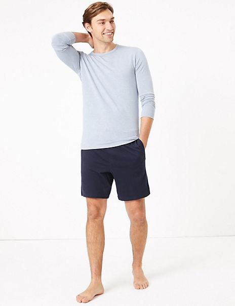 2 Pack Pure Cotton Jersey Pyjama Shorts