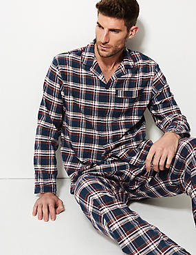 Brushed Cotton Checked Pyjama Set