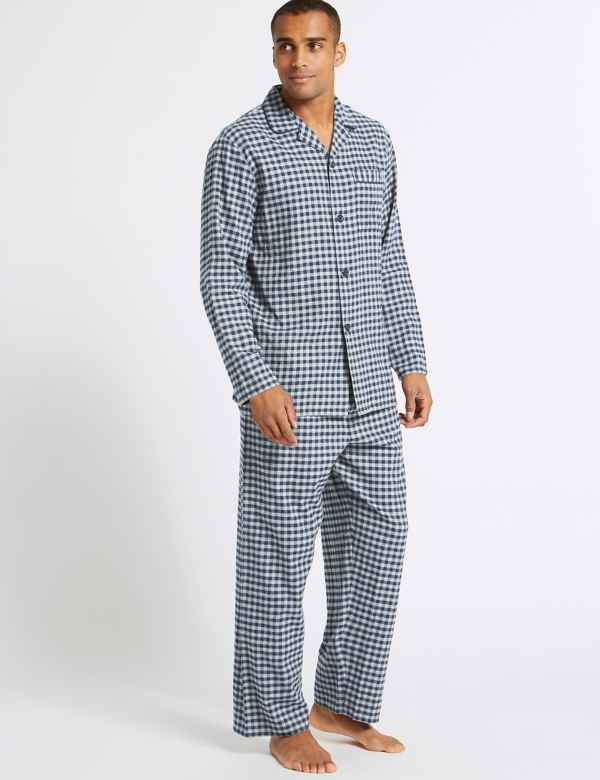 b32b93d8fc Big   Tall Brushed Cotton Checked Pyjama Set. Online Only