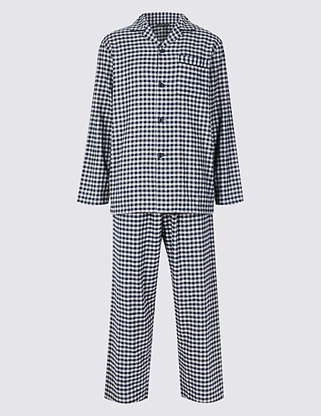 Big & Tall Brushed Cotton Checked Pyjama Set