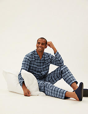 Brushed Cotton Checked Pyjama Set