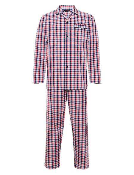 Pure Cotton Checked Pyjamas