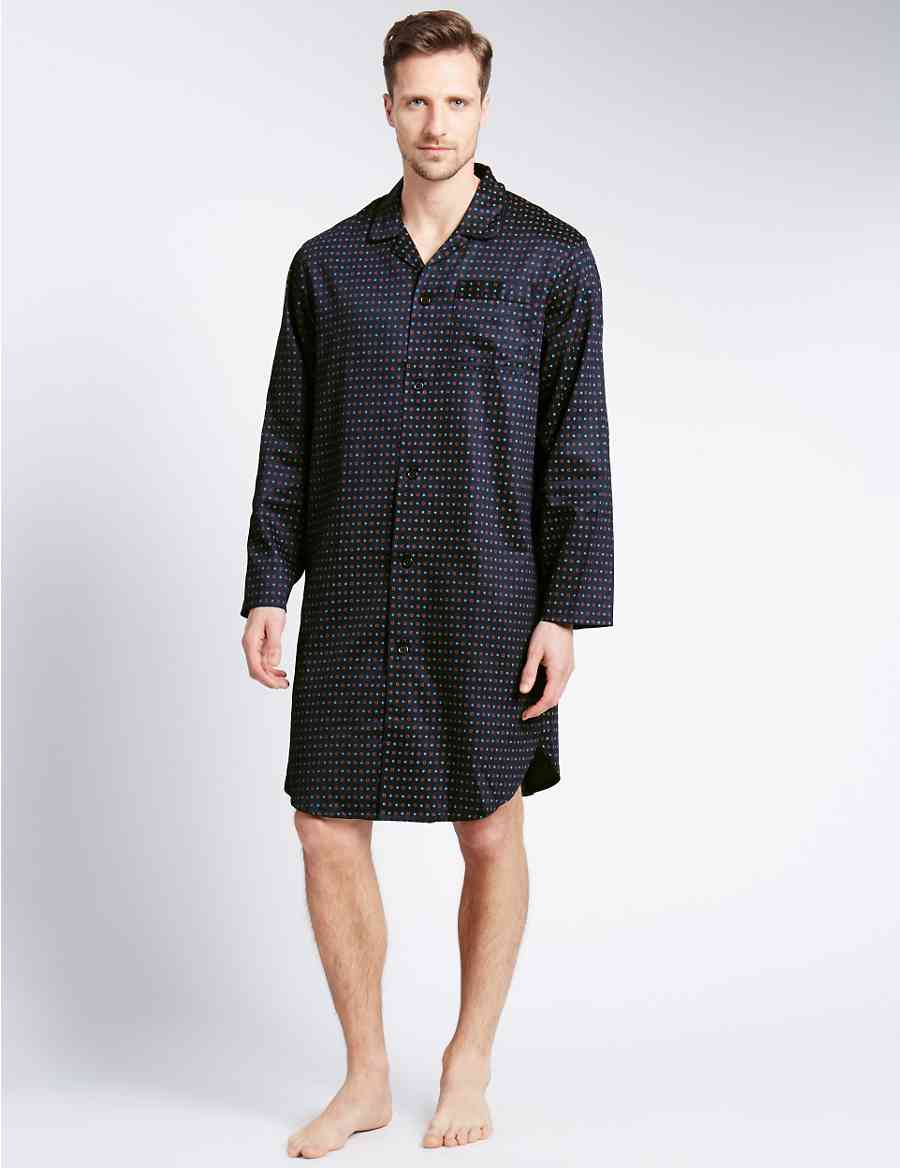 Pure Cotton Geometric Print Nightshirt  3dcf06500