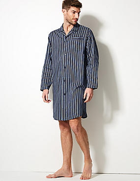 Pure Cotton Striped Nightshirt